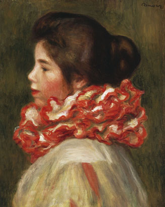 Girl in a red ruffle