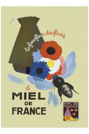 Bee french print