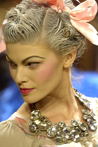 Galliano gray hair