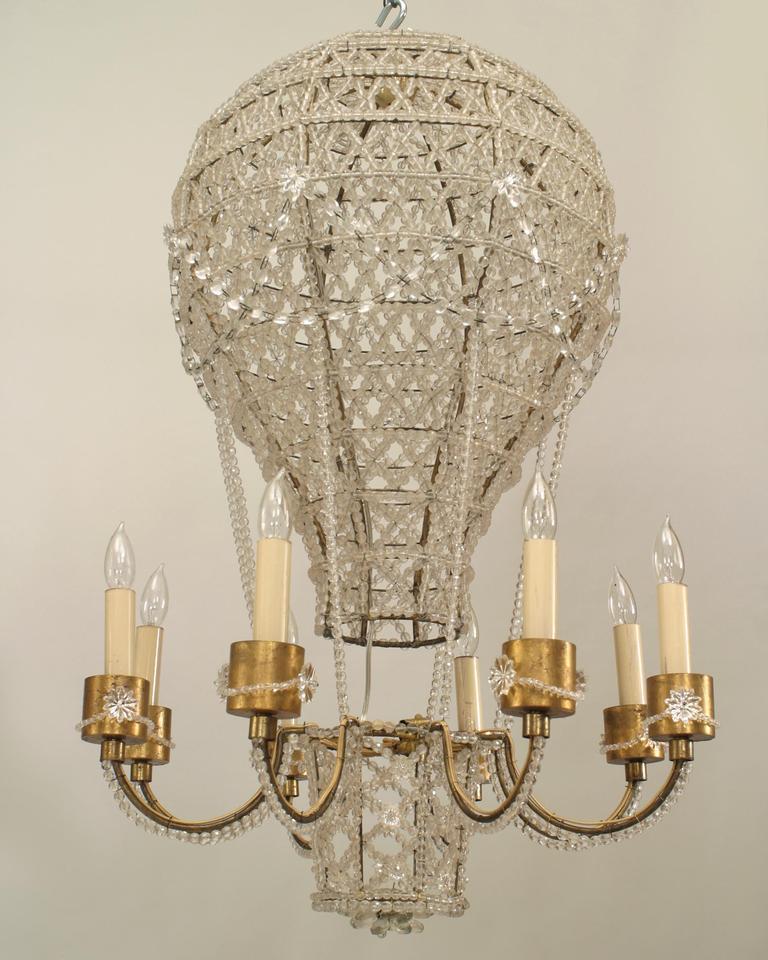 Hot air balloon chandelier