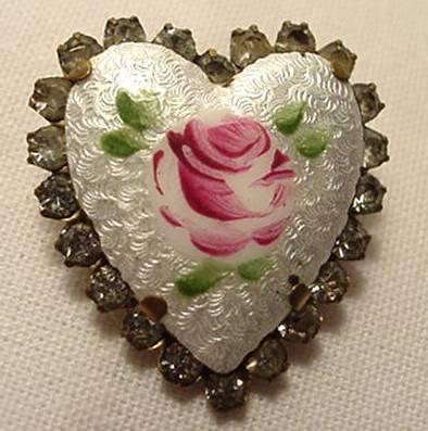 Locket heart rhinestones