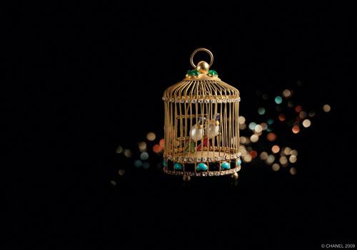Birdcage pendant.