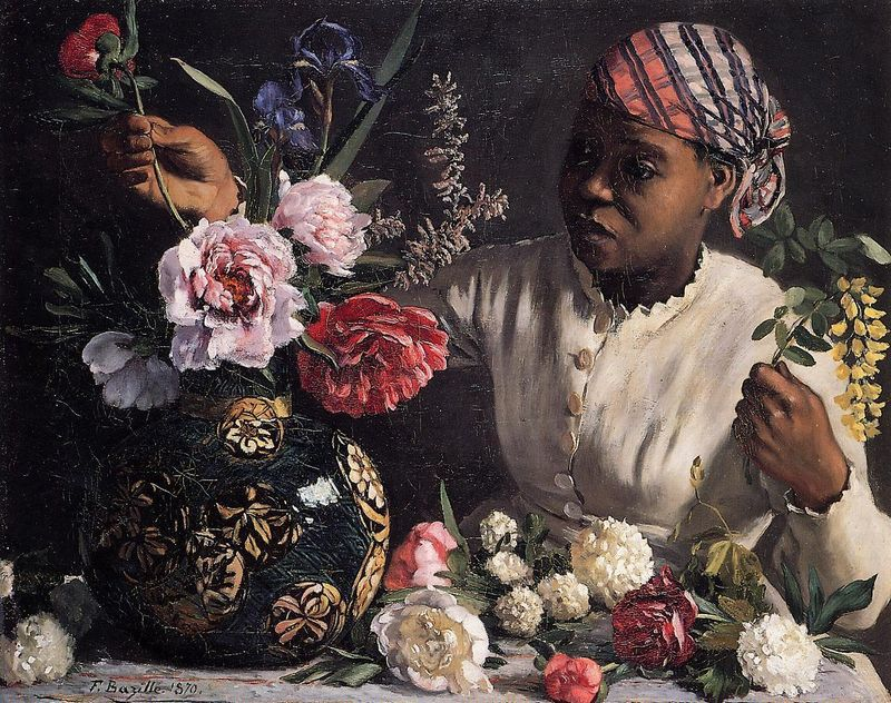 Bazille_jean_frederic_african_woman_with_peonies