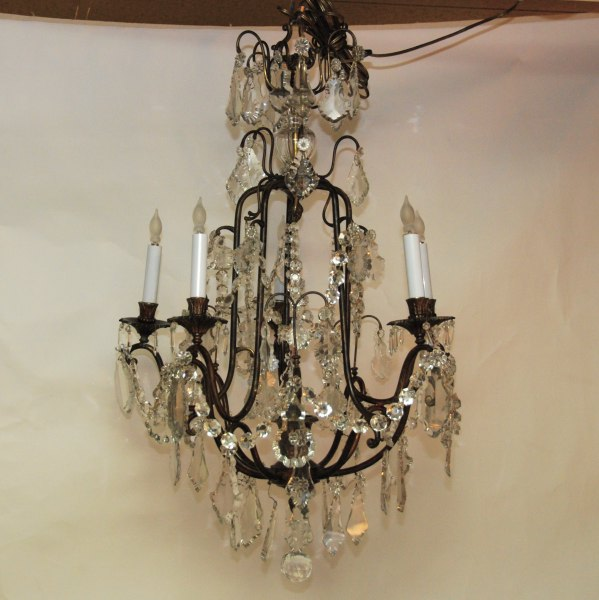 Antique bronze and crystal chandelier. - You Light Up My Life - A Secret Forest