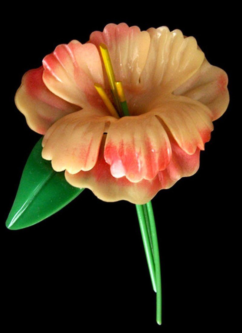 Large celluloid flower