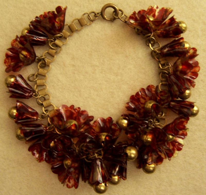 Rust celluloid bracelet