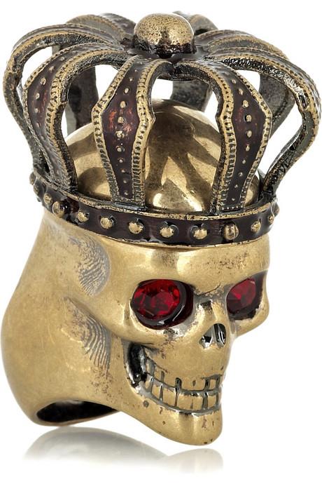 Alexander-McQueen-Swarovski-crystal-crowned-skull-ring