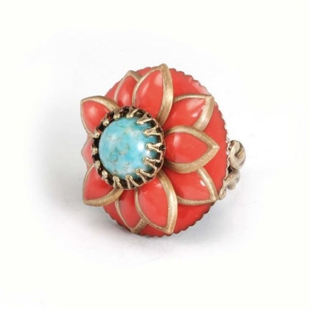 Ollipop-orange-teal-cocktail-ring